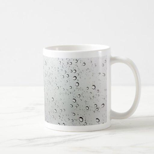 Water Drops on Glass Coffee Mug