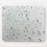 Water Drops on Glass Mouse Pad