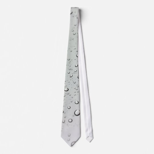 Water Drops on Glass Neck Tie
