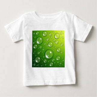 Water drops on green baby T-Shirt