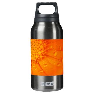 Water Drops on Orange Flower Insulated Water Bottle