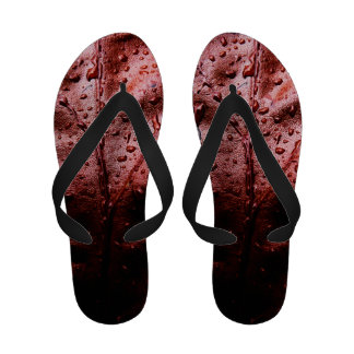 Water Drops on Red Leaf Sandals