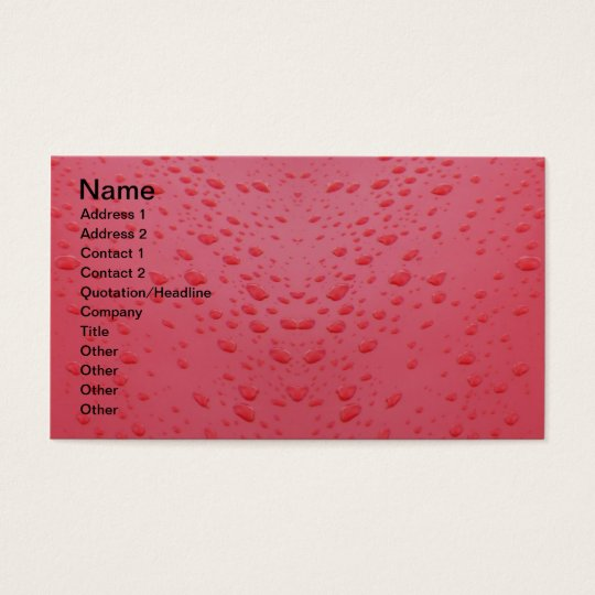 Water-drops-on-red-metal939 RED PINK METAL WATER D Business Card