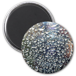 Water Drops On The Glass 2 Inch Round Magnet