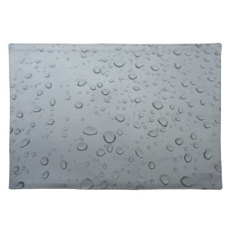 Water Drops on Window, Rain Wallpaper Background Placemat