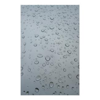 Water Drops on Window, Rain Wallpaper Background Stationery