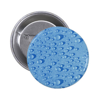 Water drops pinback button