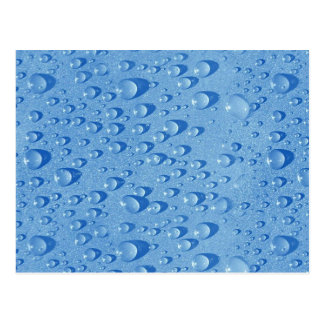 Water drops post card
