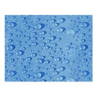 Water drops post card