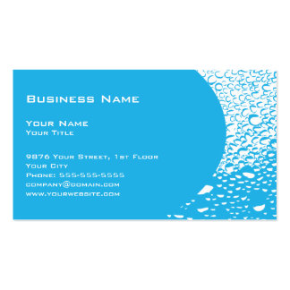 Water Drops Professional Business Card Template