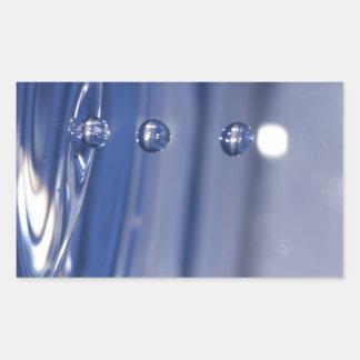 Water Drops Rectangular Sticker