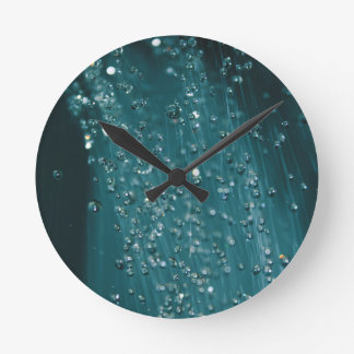 Water Drops Round Clock