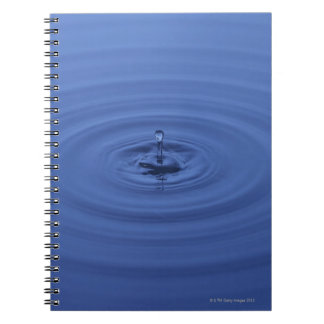 Water drops spiral note books