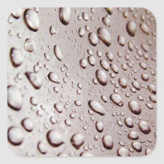 Water Drops Square Sticker