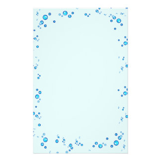 Water Drops Stationery Paper