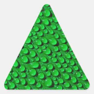 Water Drops Triangle Sticker
