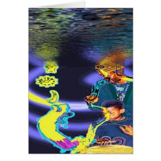 Water Drum Spirit Guide Greeting Card