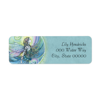 Water Element Fairy Fantasy Art Label