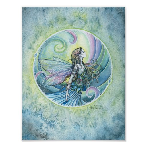 Water Element Fairy Poster Print by Molly Harrison