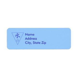 Water Element Label