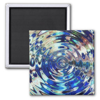 WATER Element Ripple Pattern 2 Inch Square Magnet