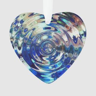 WATER Element Ripple Pattern acrylic ornament