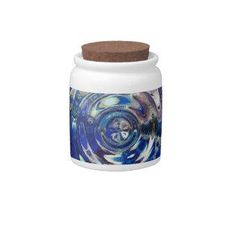 WATER Element Ripple Pattern Candy Jars