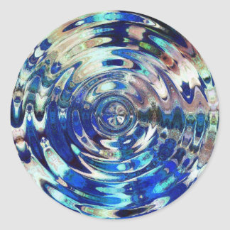 WATER Element Ripple Pattern Classic Round Sticker