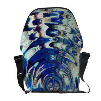 WATER Element Ripple Pattern Courier Bag