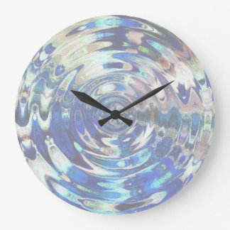 WATER Element Ripple Pattern Large Clock
