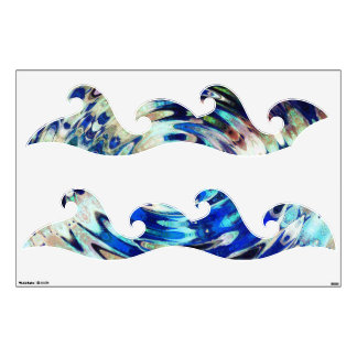 WATER Element Ripple Pattern waves wall decals