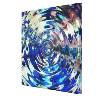 WATER Element Ripple Pattern wrapped canvas print