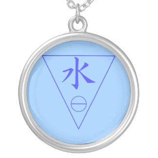 Water Element Round Pendant Necklace