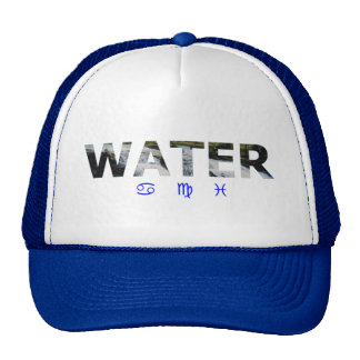 Water Element with Zodiac Signs Trucker Hat