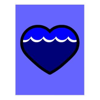 Water Elemental Heart Postcard
