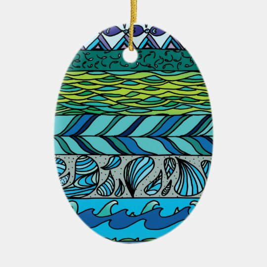 Water Elements Ceramic Ornament
