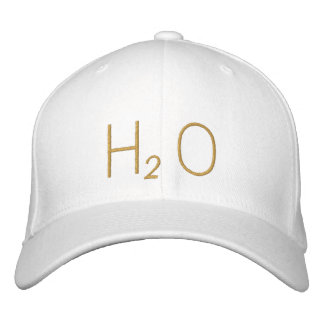 water embroidered baseball cap