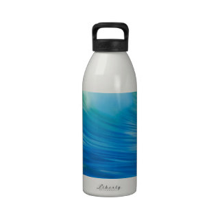 Water Emerald Wave Olympic National Park Reusable Water Bottles
