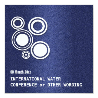 Water energy business conference 5.25x5.25 square paper invitation card