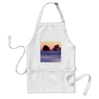 Water Evening Sea Stacks Ecola State Park Adult Apron