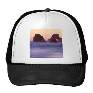 Water Evening Sea Stacks Ecola State Park Trucker Hat