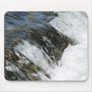 Water fall at a brook run mouse pad