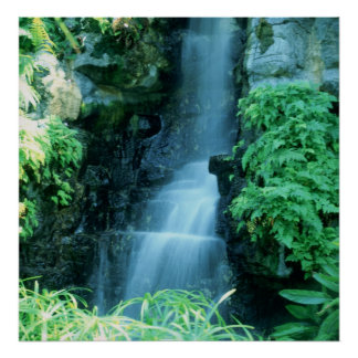 WATER FALL at SHAWS GARDEN Poster