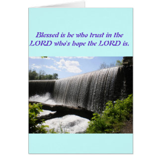 Water Fall Blessing Card