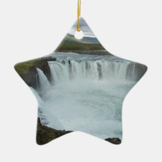 Water fall Godafoss Ceramic Ornament