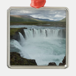 Water fall Godafoss Metal Ornament