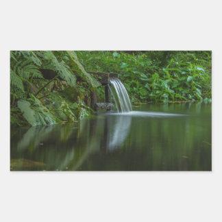 Water fall in the Green Lake Rectangular Sticker