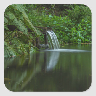 Water fall in the Green Lake Square Sticker