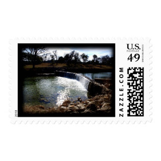 Water Fall postage stamp