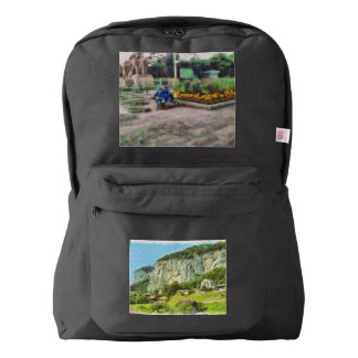 Water falling off a cliff american apparel™ backpack